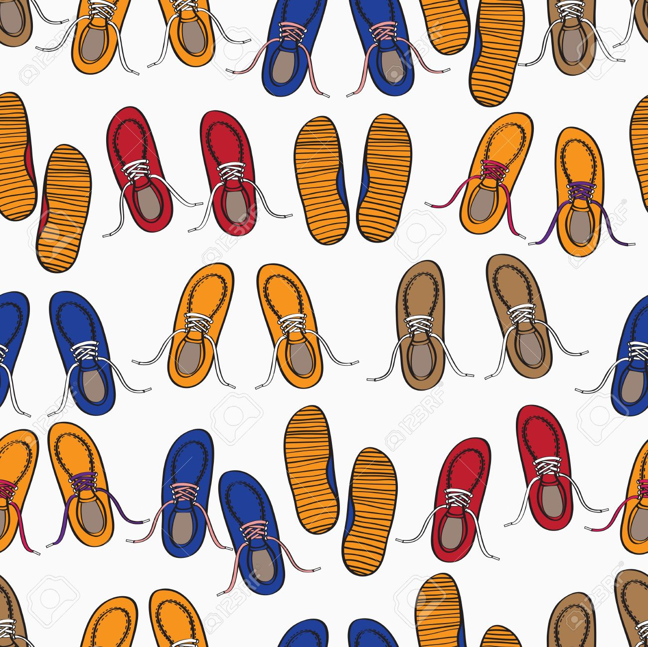 Colourful Background Pattern Of Casual