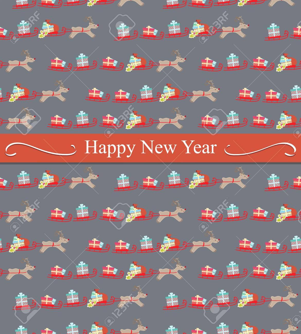Frohes Neues Jahr-oder Weihnachtsgrußkarte-Design Mit Einem ...