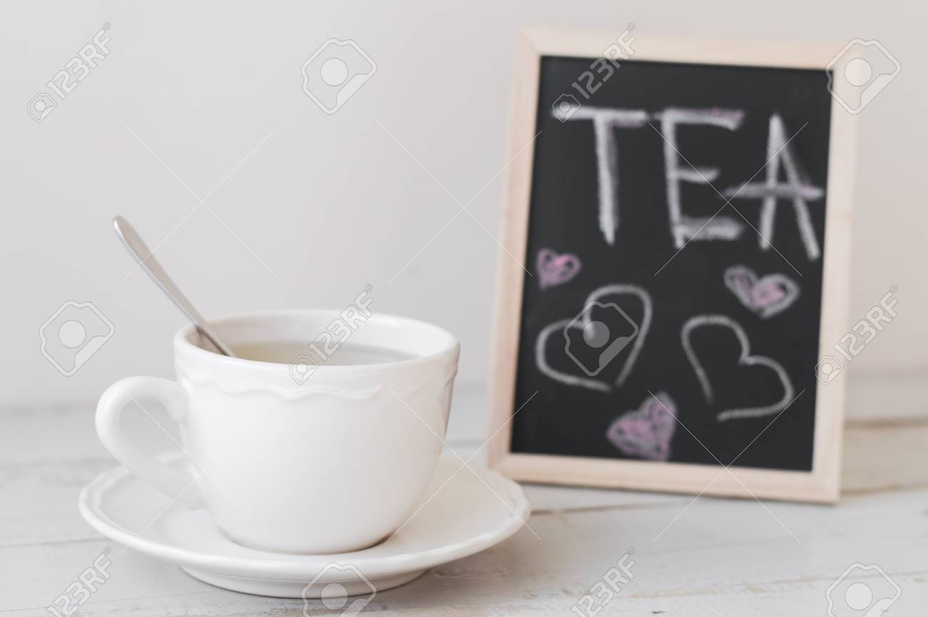 Romantic Tea Break: Hot Beverage In White Small Cup Served With ...