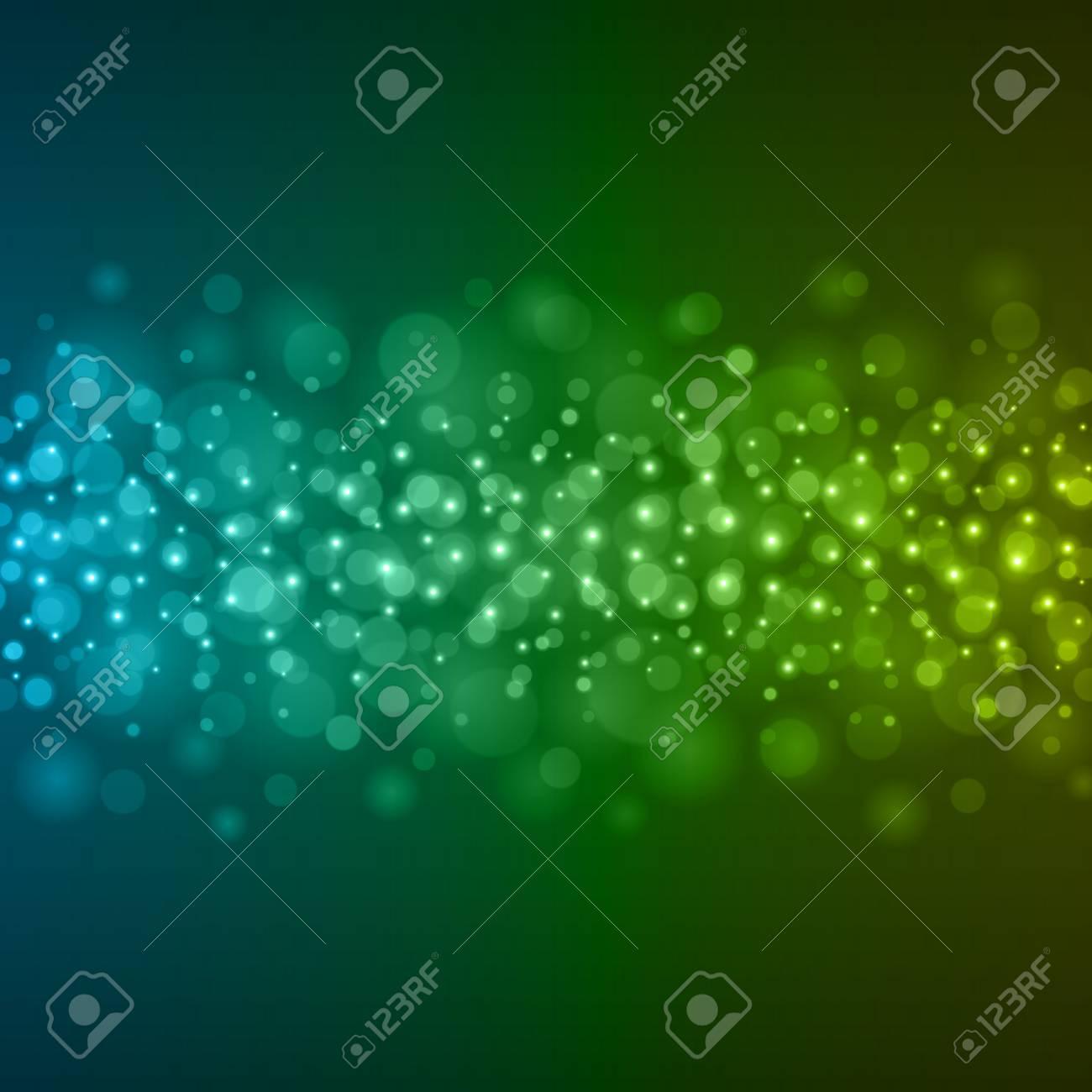 抽象的な光青緑ボケ背景ベクトル イラスト。マジックは、キラキラ輝くを