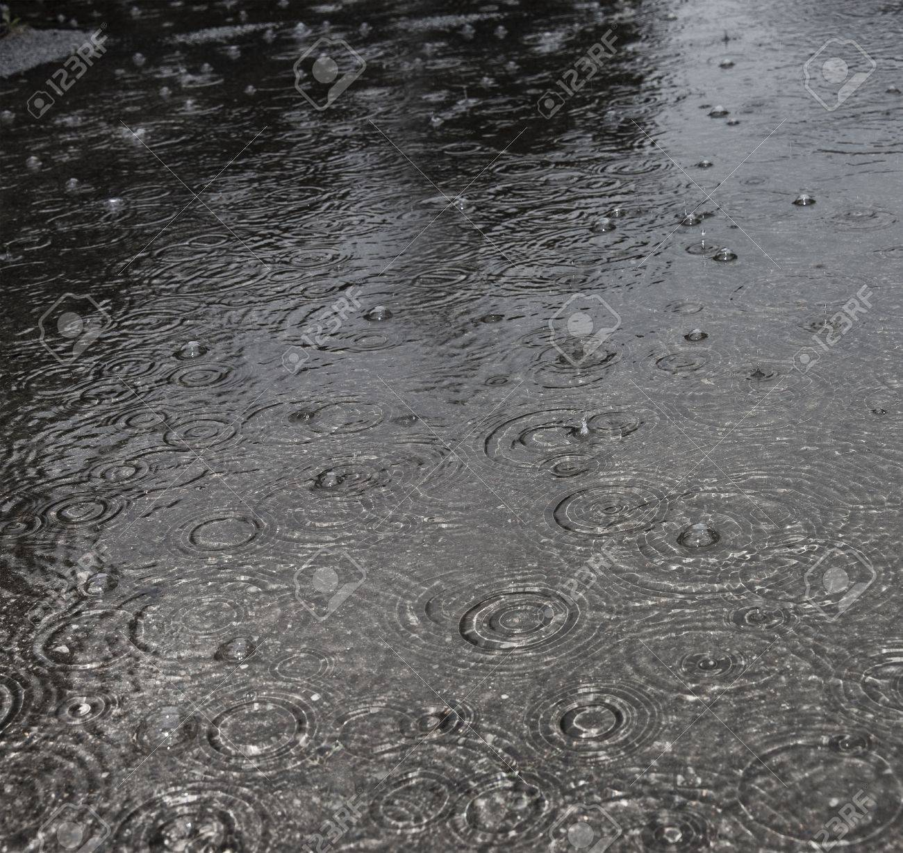 Rain On A Street Stock Photo Picture And Royalty Free Image Image 15499792