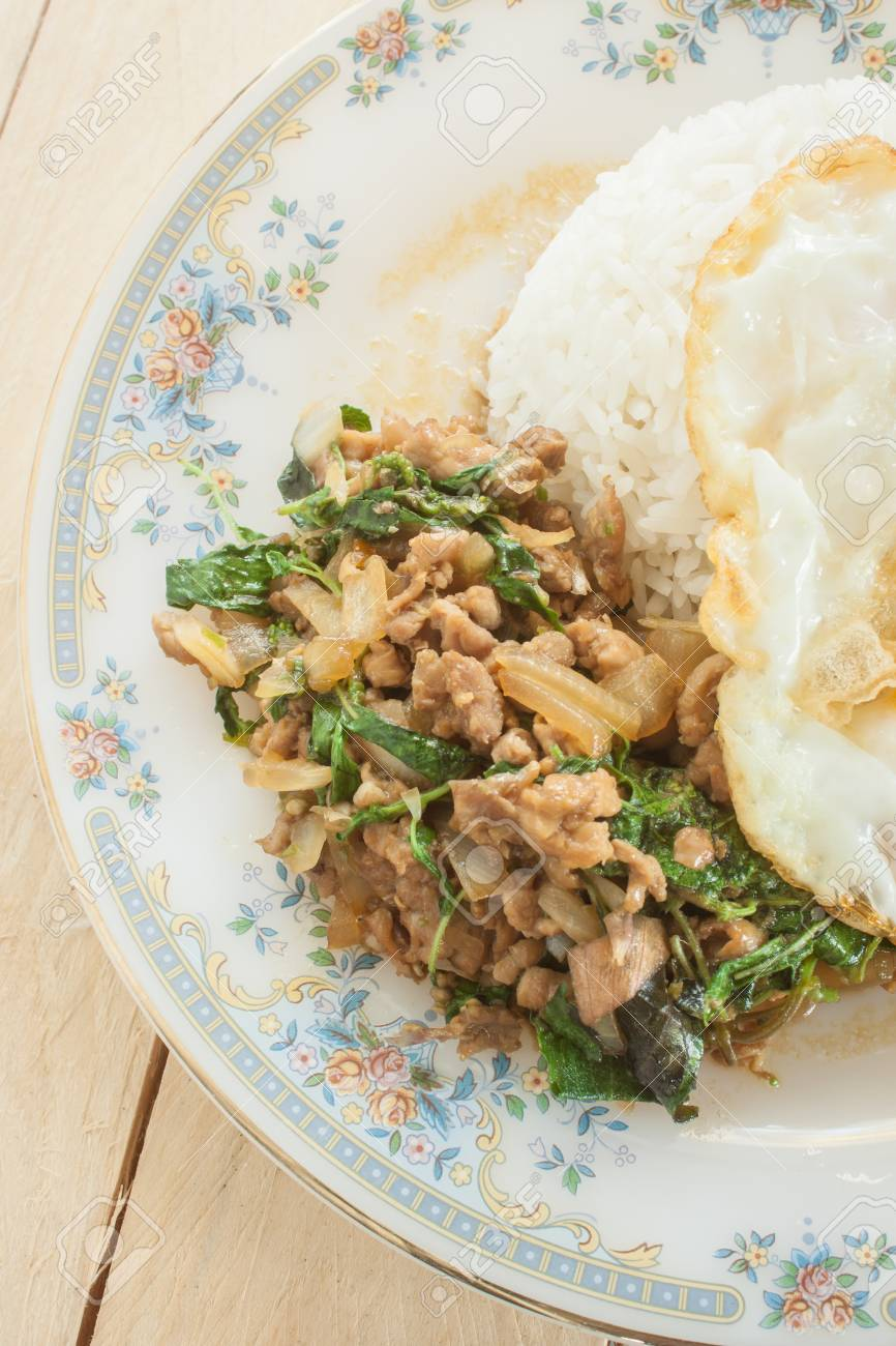 Fried basil chicken fried egg thai food stock photo picture and fried basil chicken fried egg thai food stock photo 40246769 forumfinder Image collections