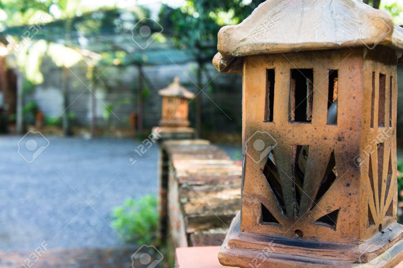 Traditional Lamp Hand Made Ceramic Clay Handicrafts Of Vietnam