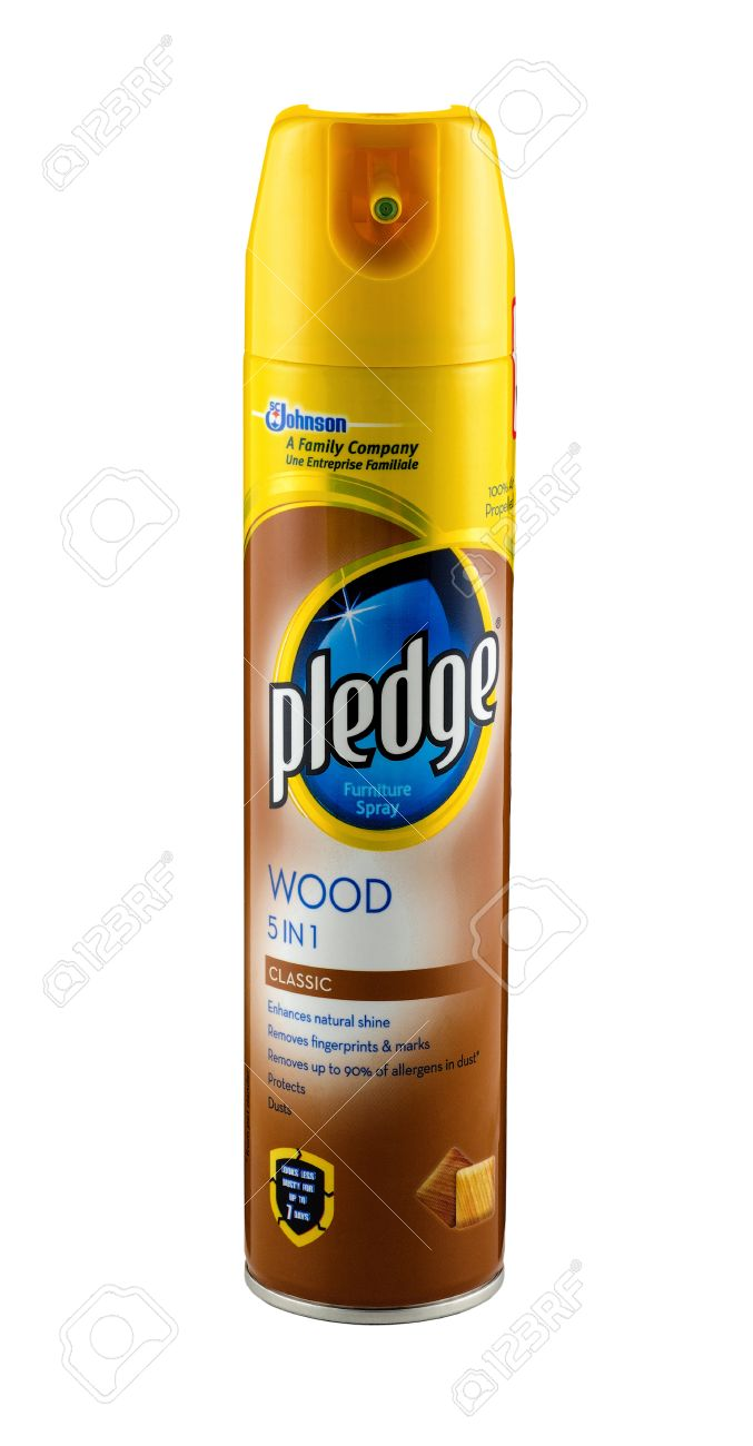Can Of Pledge Wood 5 In 1 Furniture Spray 250 Ml. Spray Is