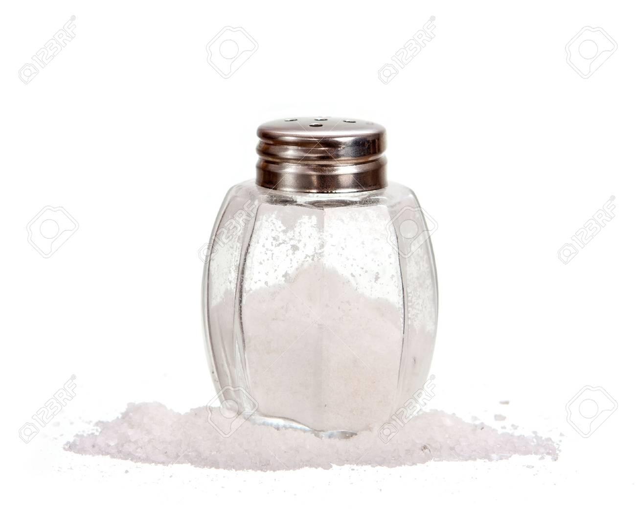 Salt shaker isolated on white Stock Photo - 13658420