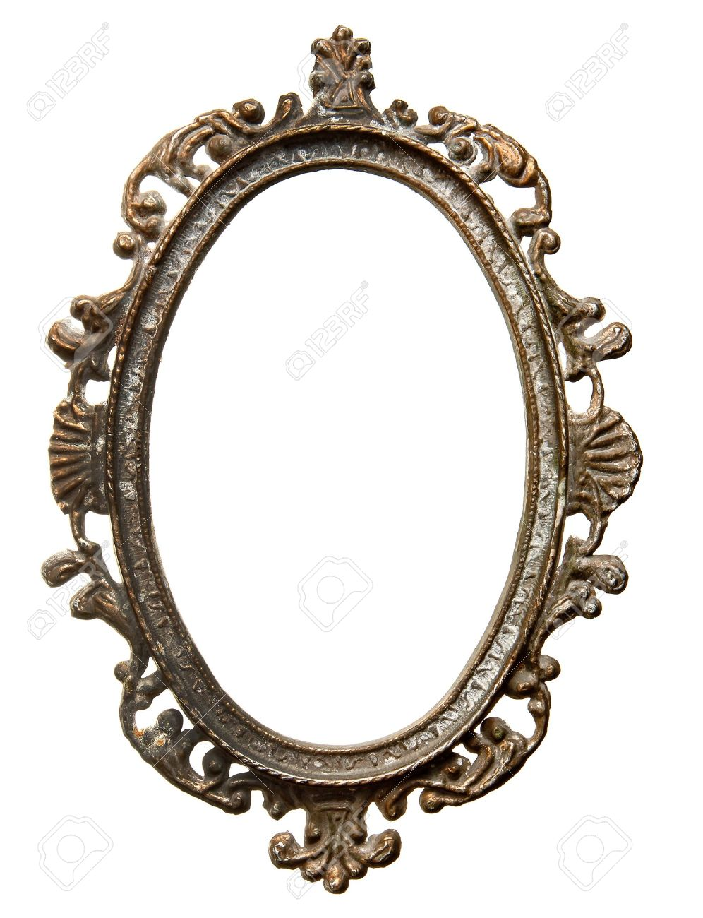 Vintage metal oval frame isolated on white background stock photo vintage metal oval frame isolated on white background stock photo 14301838 jeuxipadfo Images