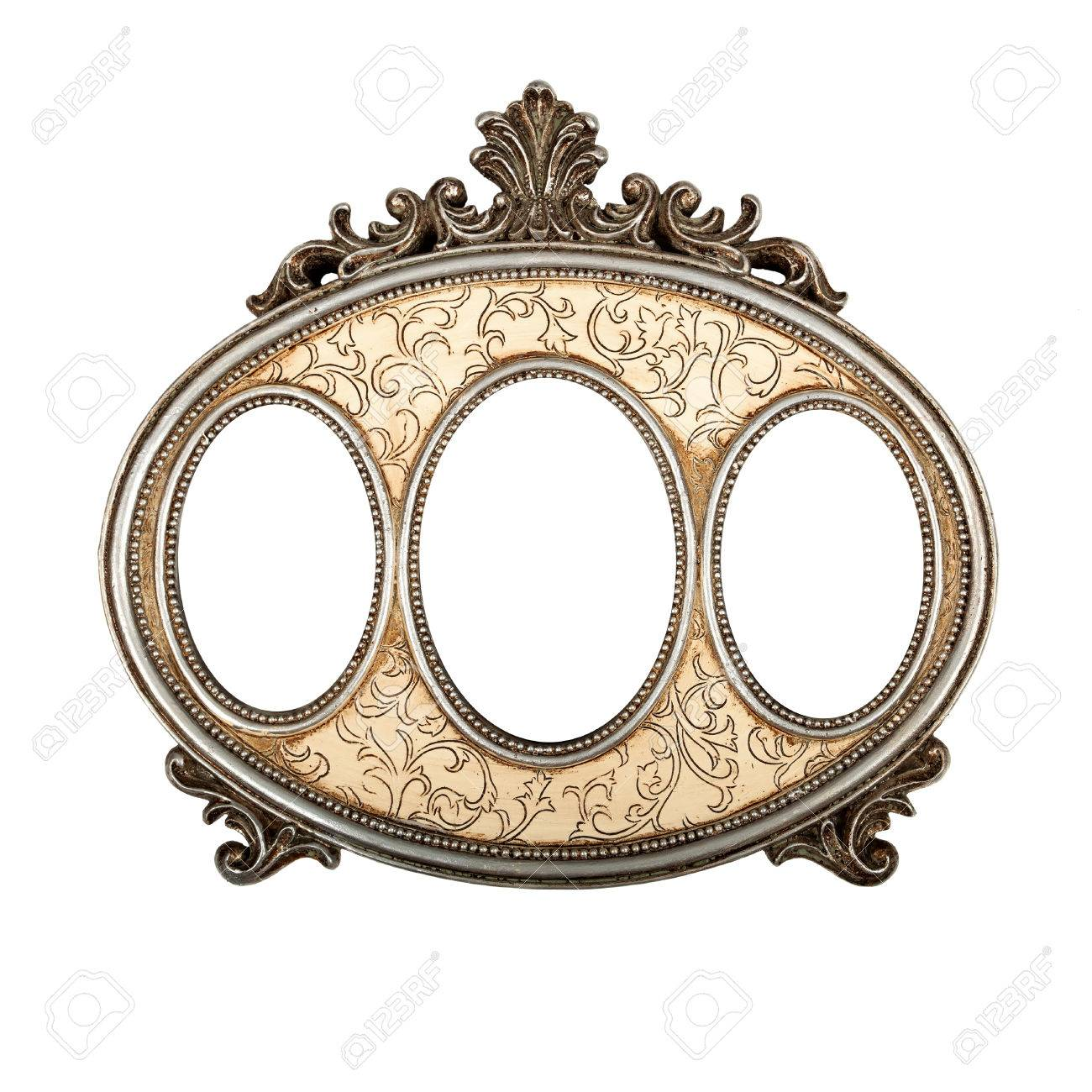 Ornate Vintage Triple Picture Frame Stock Photo, Picture And Royalty ...