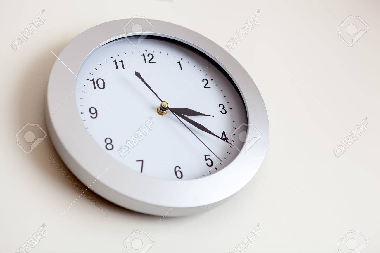 office clock wall. Office Clock Hanging On The Wall. Shallow Depth Of Field Stock Photo - 39334774 Wall