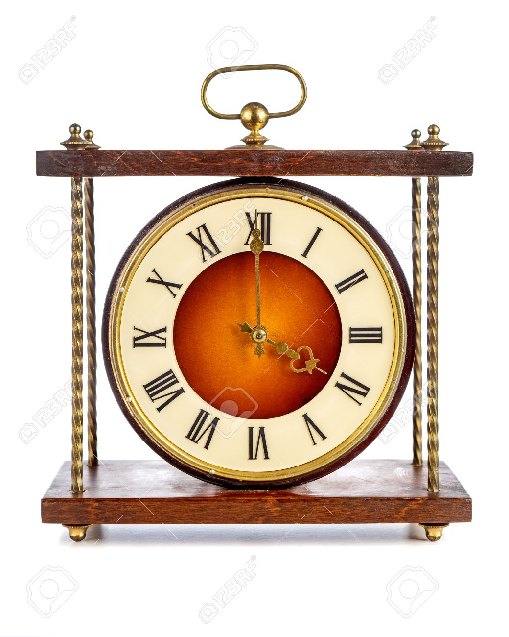 Worksheet Roman Numerals Four old clock with roman numerals showing four oclock over white background stock photo