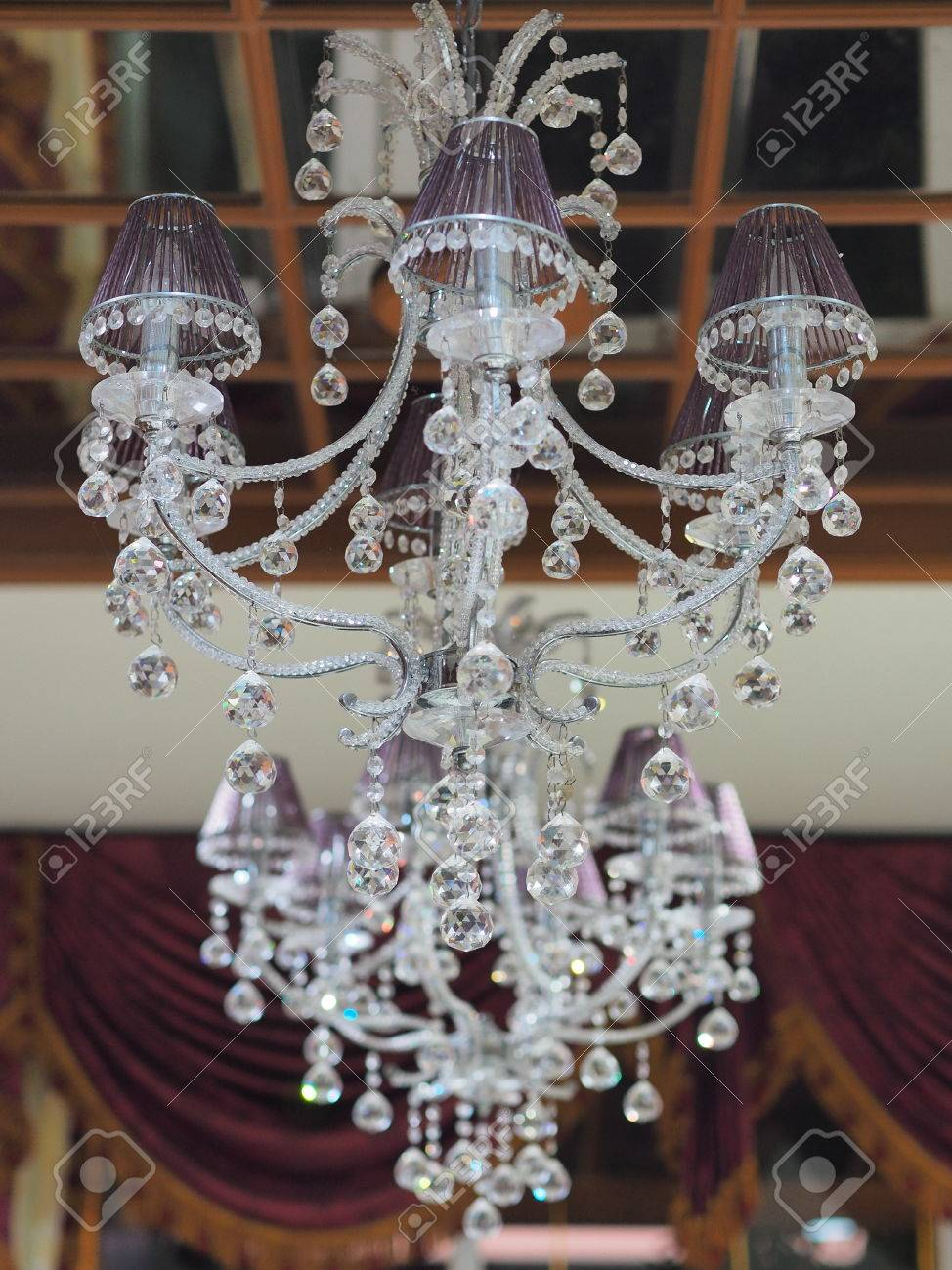 Bed chandelier crystal decorate glass home house housen indoor bed chandelier crystal decorate glass home house housen indoor lamp modern outdoor stock photo 50830991 aloadofball Image collections