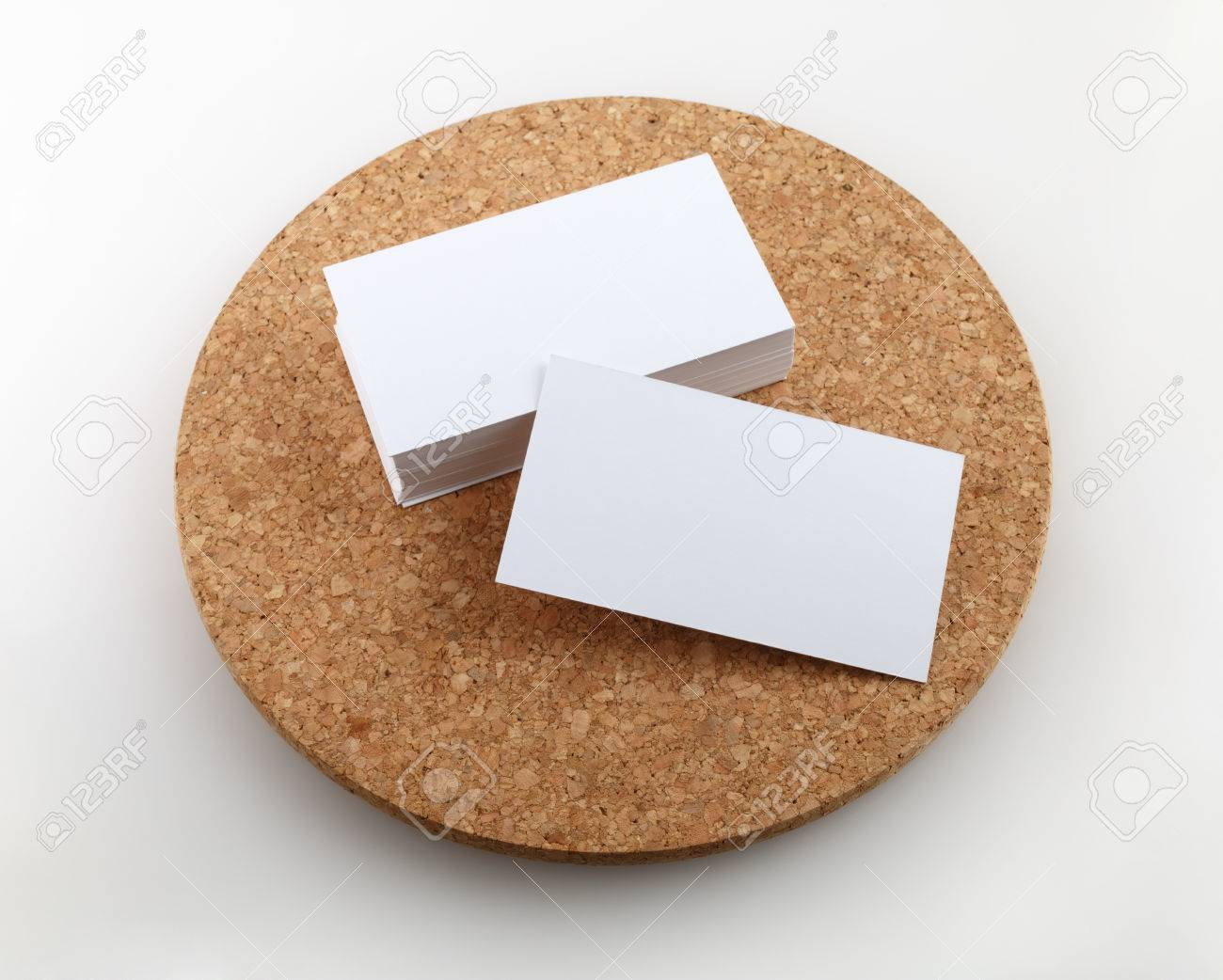 Blank business cards on a round cork base clipping path stock photo blank business cards on a round cork base clipping path stock photo 35596790 colourmoves