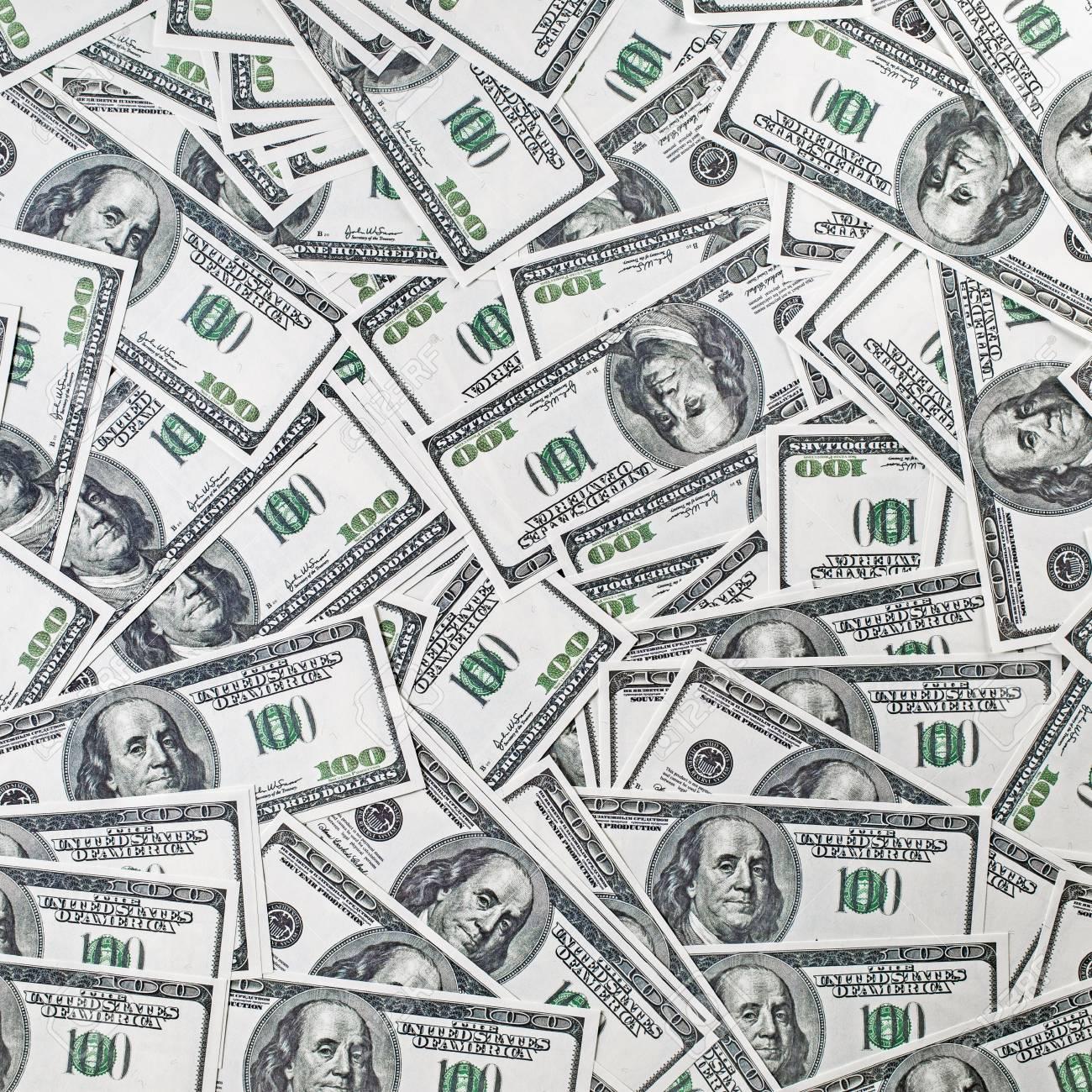 Antecedentes De Una Variedad De Billetes De Cien Dólares Mucho