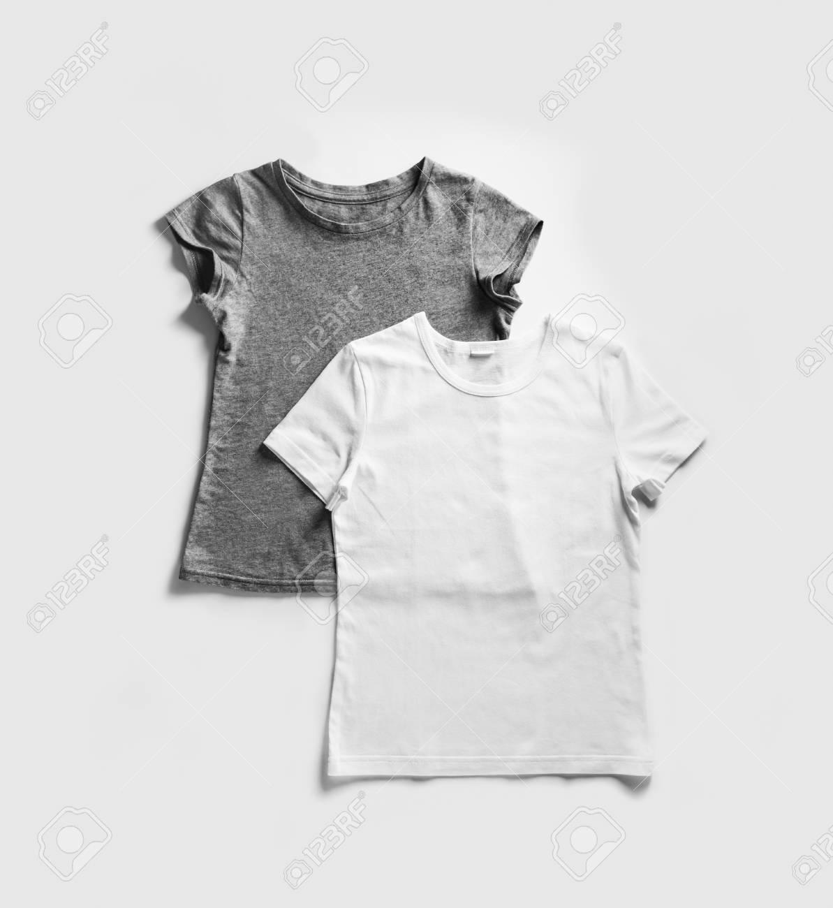 Leere Weiße Und Graue T-Shirts Für Ihr Design Auf ...