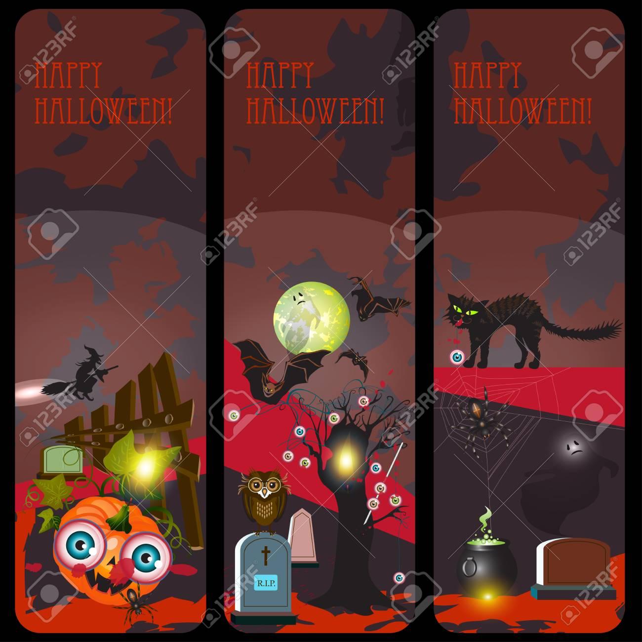 Halloween banners set Stock Vector - 15398631
