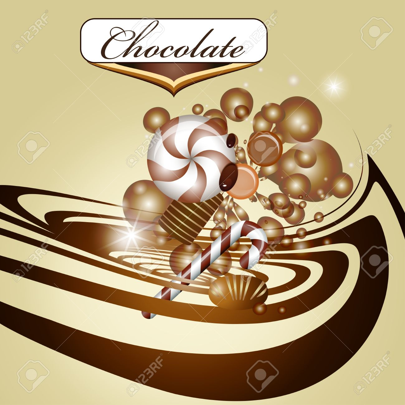 Chocolate background and candy Stock Vector - 15889698