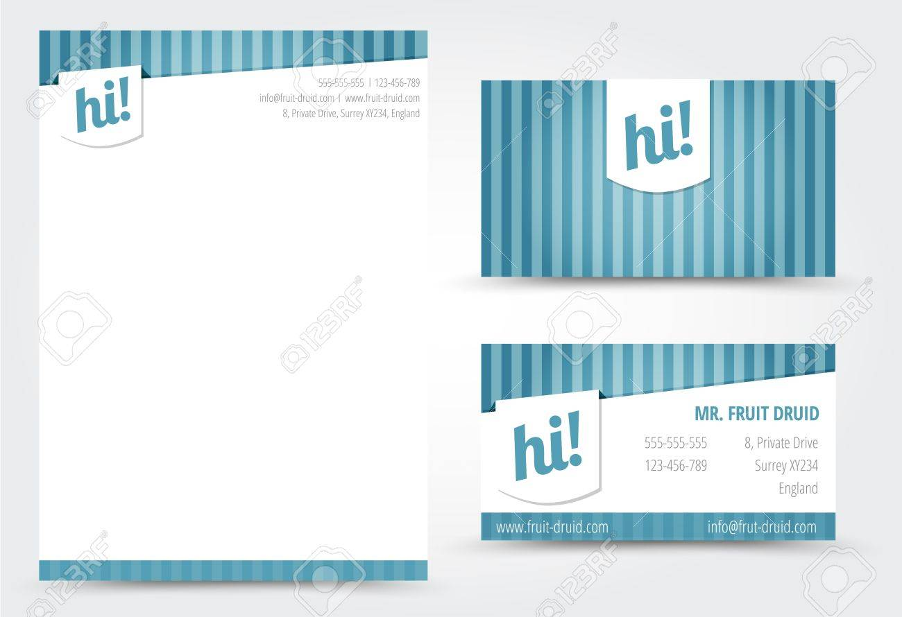 Letter and Business Card Template Stock Vector - 17947039