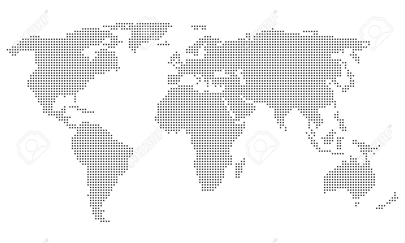 Dotted world map royalty free cliparts vectors and stock dotted world map gumiabroncs Choice Image