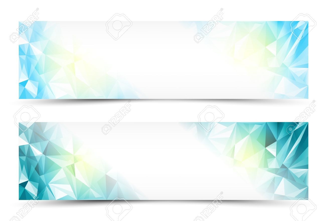 polygon abstract banner set or website header royalty free cliparts