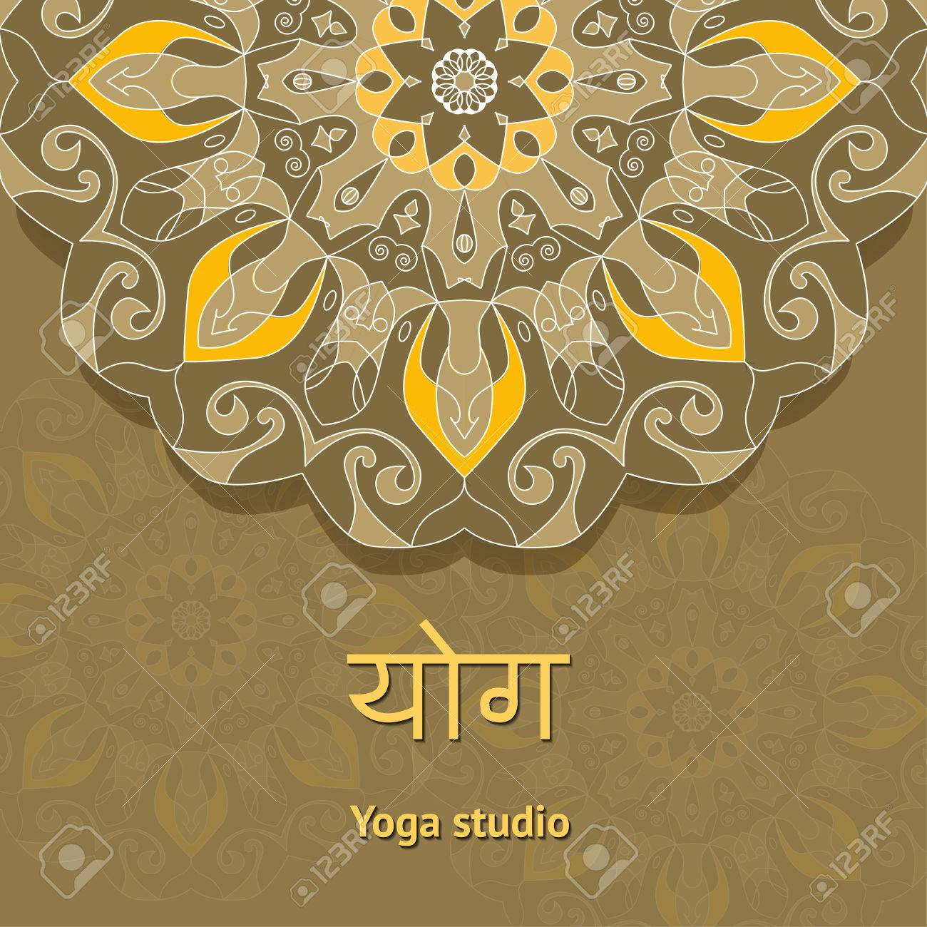 Poster For Yoga Class Studio Template Flyer Vector