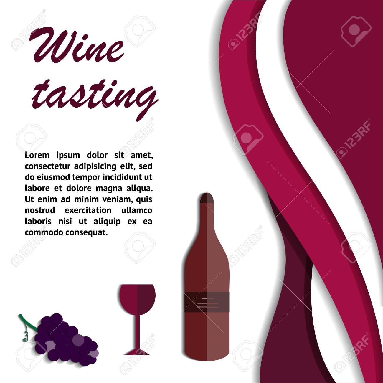 Invitation Template For Wine Tasting Events Or Wine Presentation