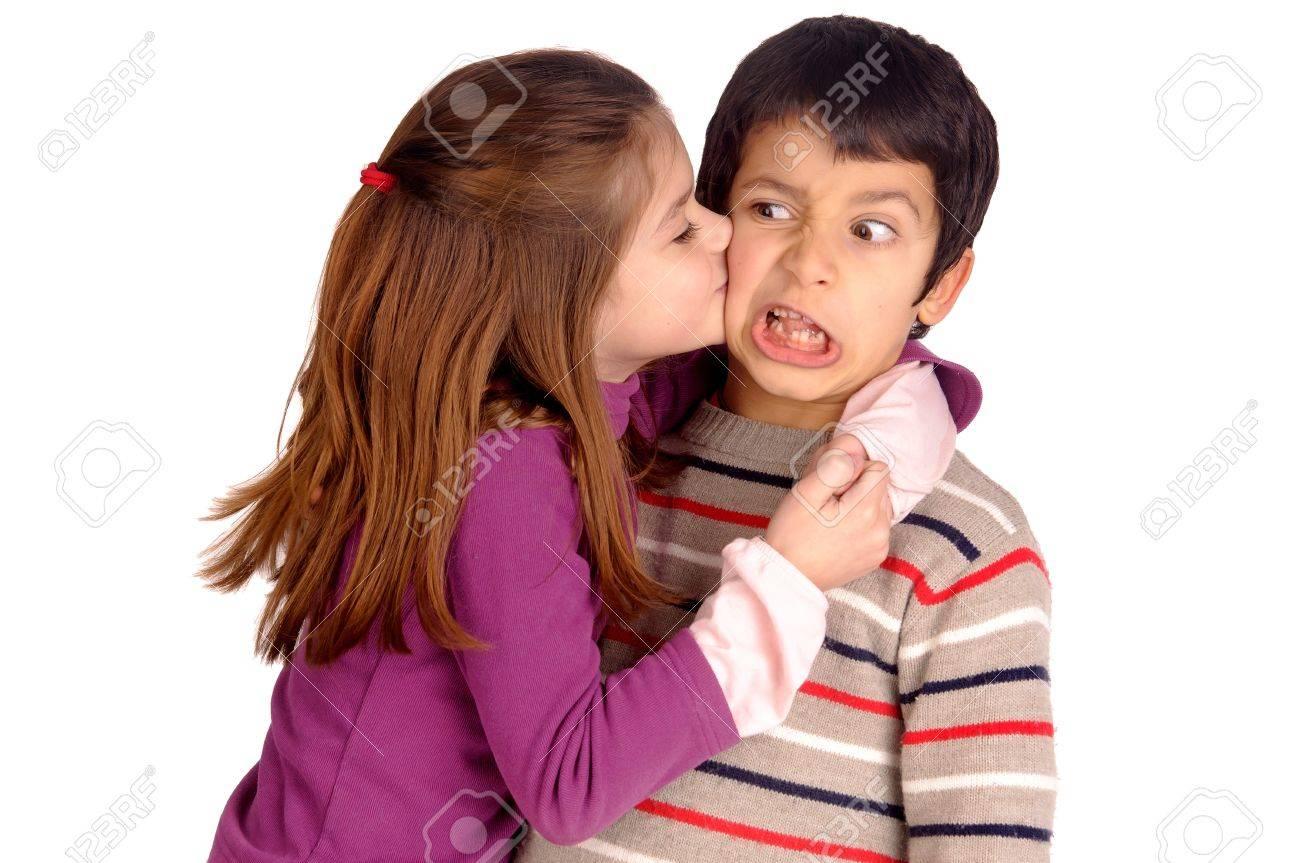 Little girl kissing boy in the face stock photo picture and royalty little girl kissing boy in the face stock photo 18056098 altavistaventures Images