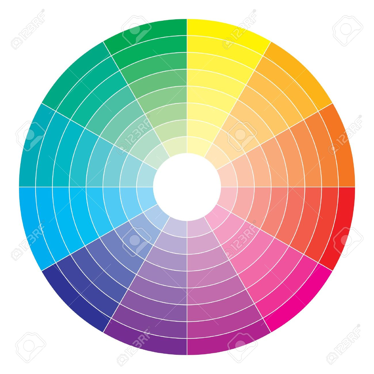 color spectrum abstract wheel, colorful diagram background complementary color diagram lab color space and values x rite
