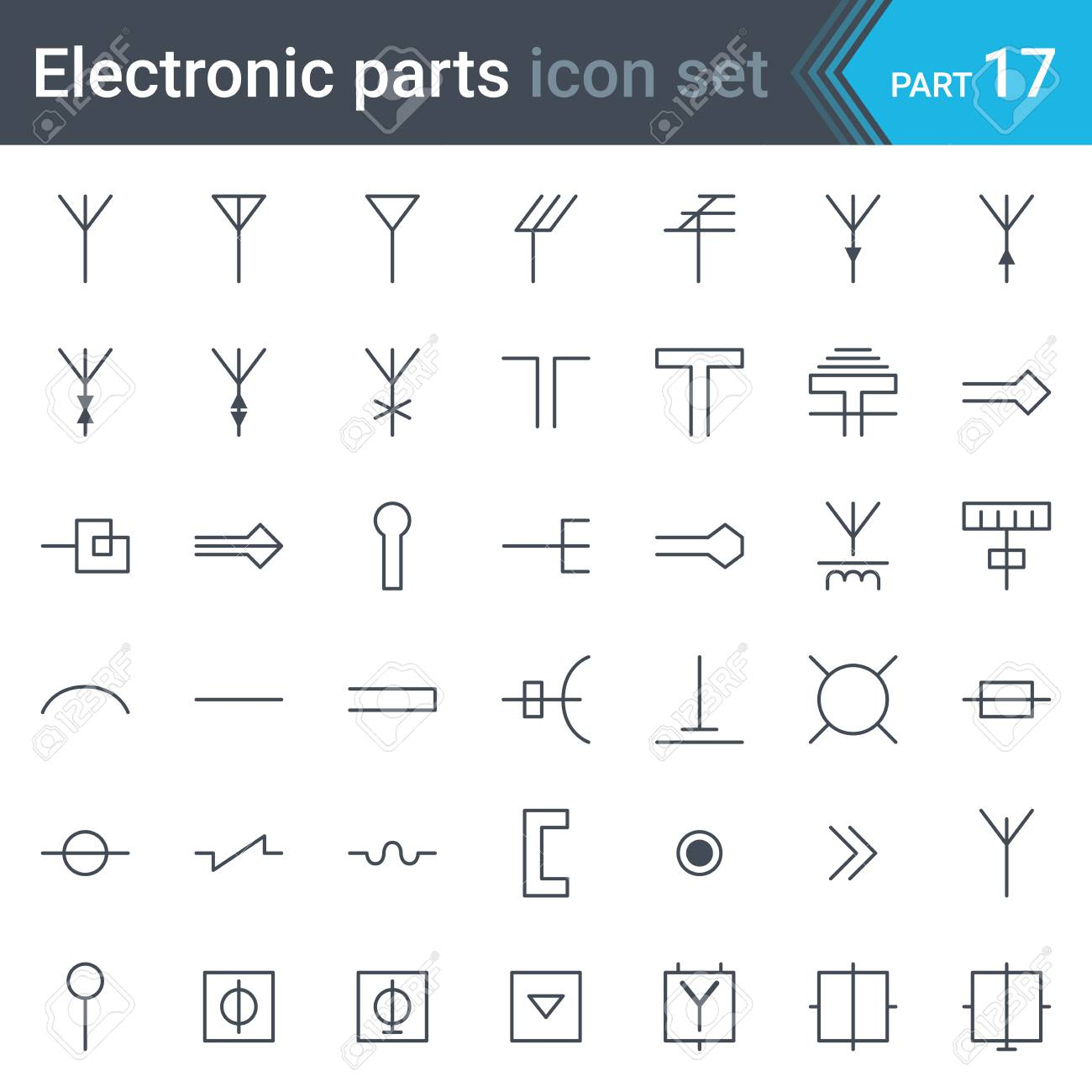 Electric and electronic circuit diagram symbols of antennas electric and electronic circuit diagram symbols of antennas aerials waveguides tv and radio biocorpaavc Gallery