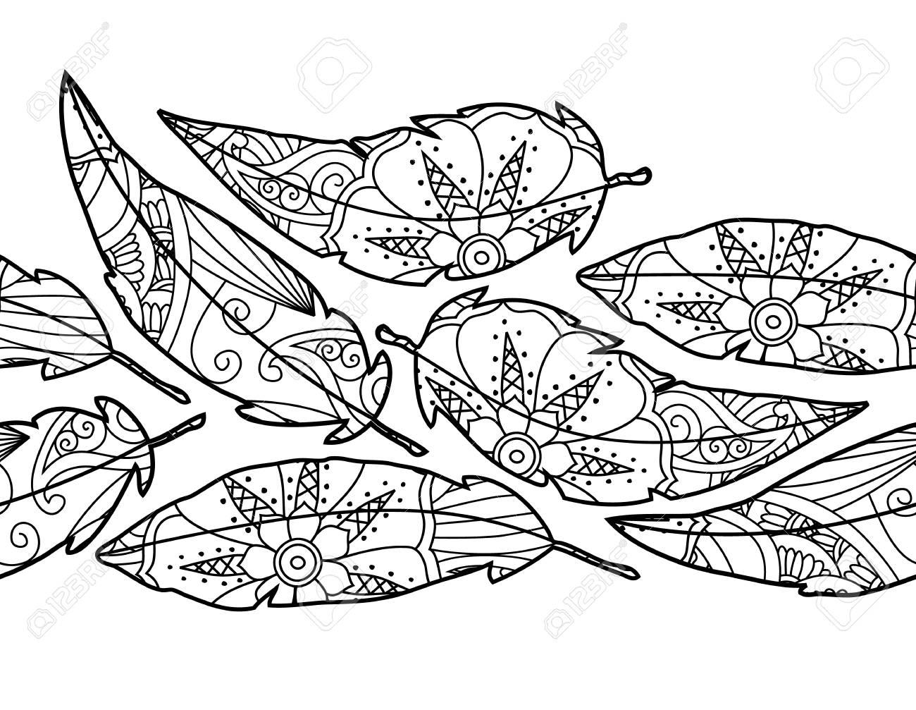 華やかな鳥の羽が白い背景で隔離のシームレスな背景は質の良い大人用と