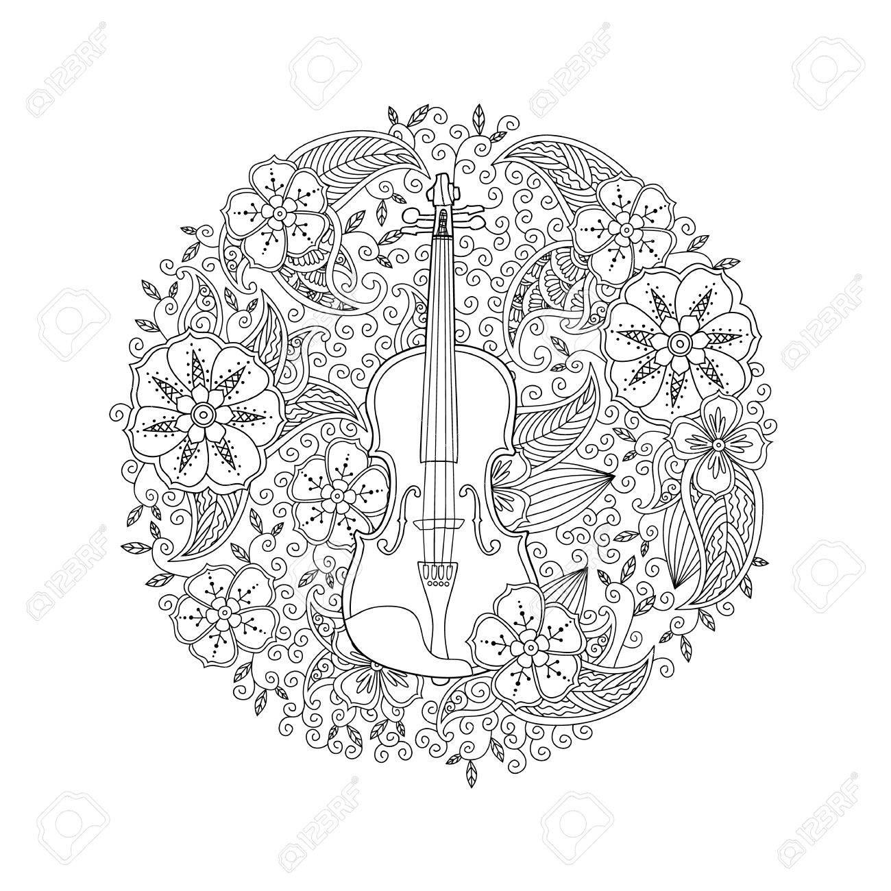Hermosa Círculo De Gracia Para Colorear Imagen - Enmarcado Para ...