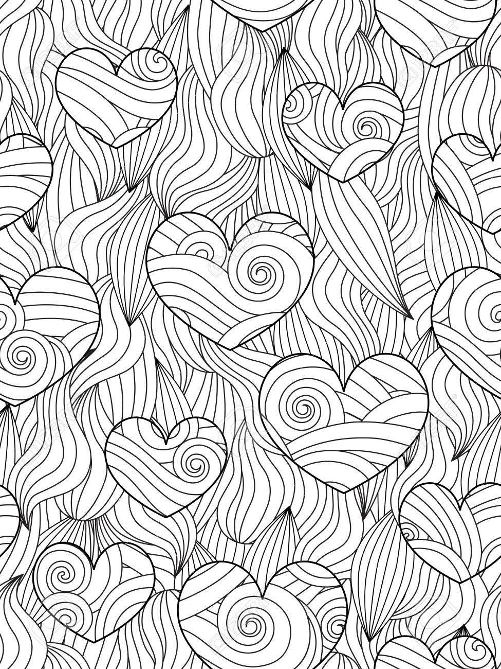 Excepcional Páginas Abstractas Para Colorear Para Niños Patrón ...