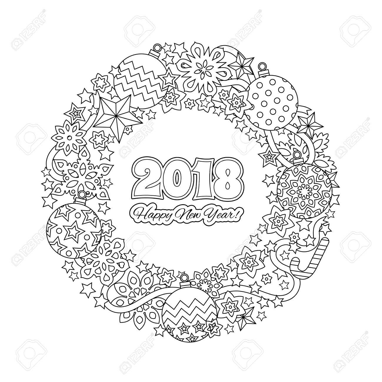 Schön Frohes Neues Jahr Malvorlagen Zum Ausdrucken Zeitgenössisch ...
