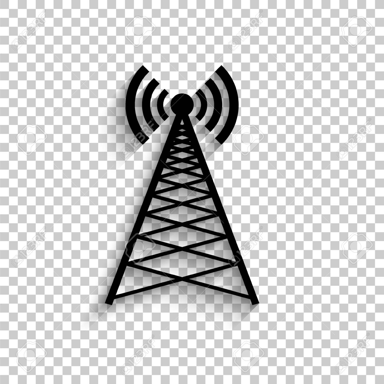 cell phone tower - black vector icon with shadow royalty free cliparts,  vectors, and stock illustration. image 116587576.  123rf