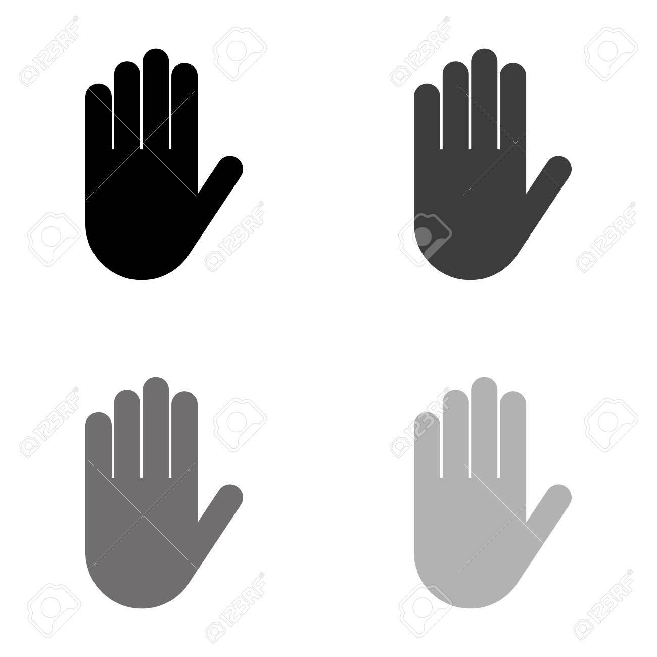 Hand - black vector icon - 124780095