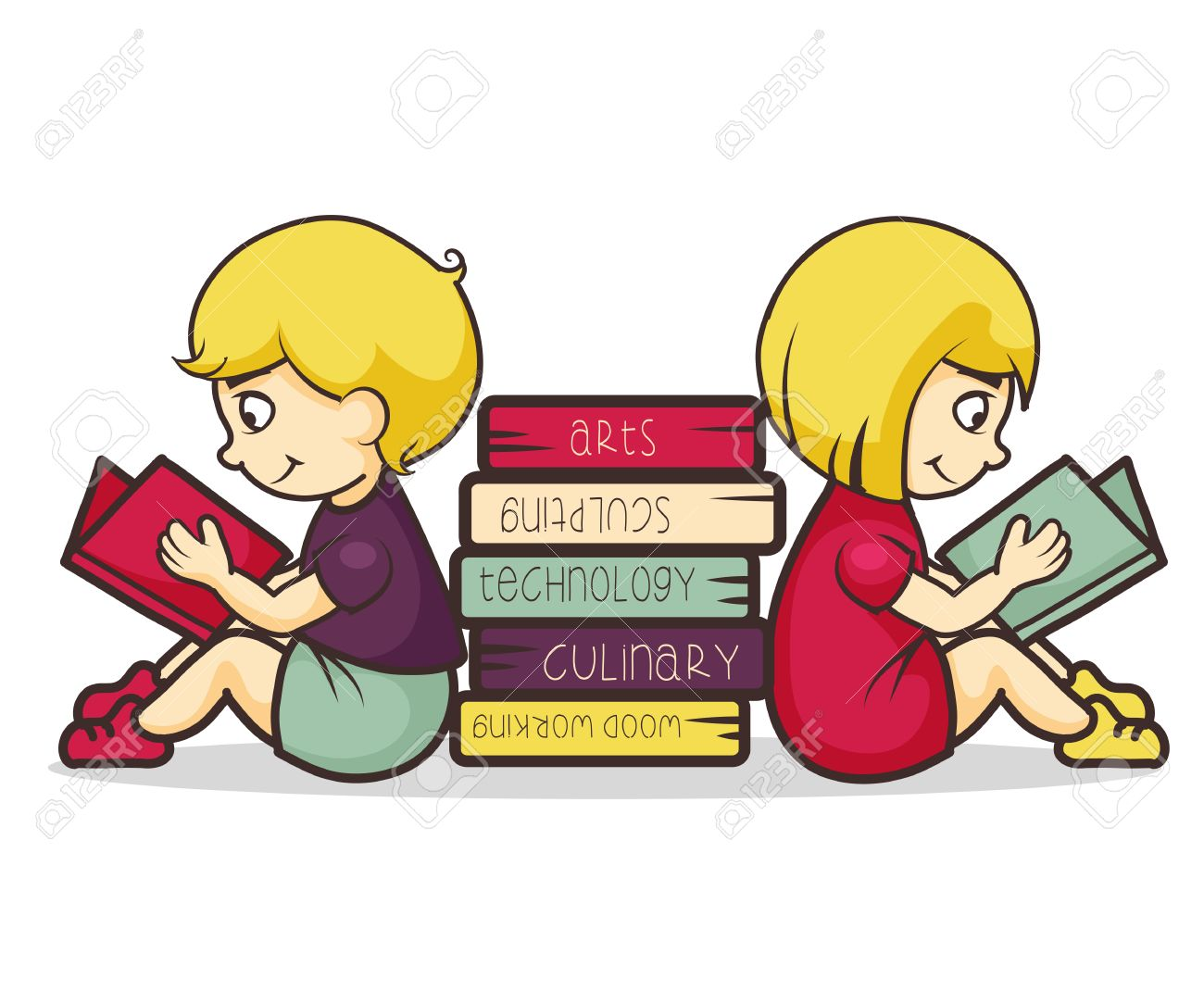 children reading books vector illustration royalty free cliparts vectors and stock illustration image 41835821 children reading books vector illustration
