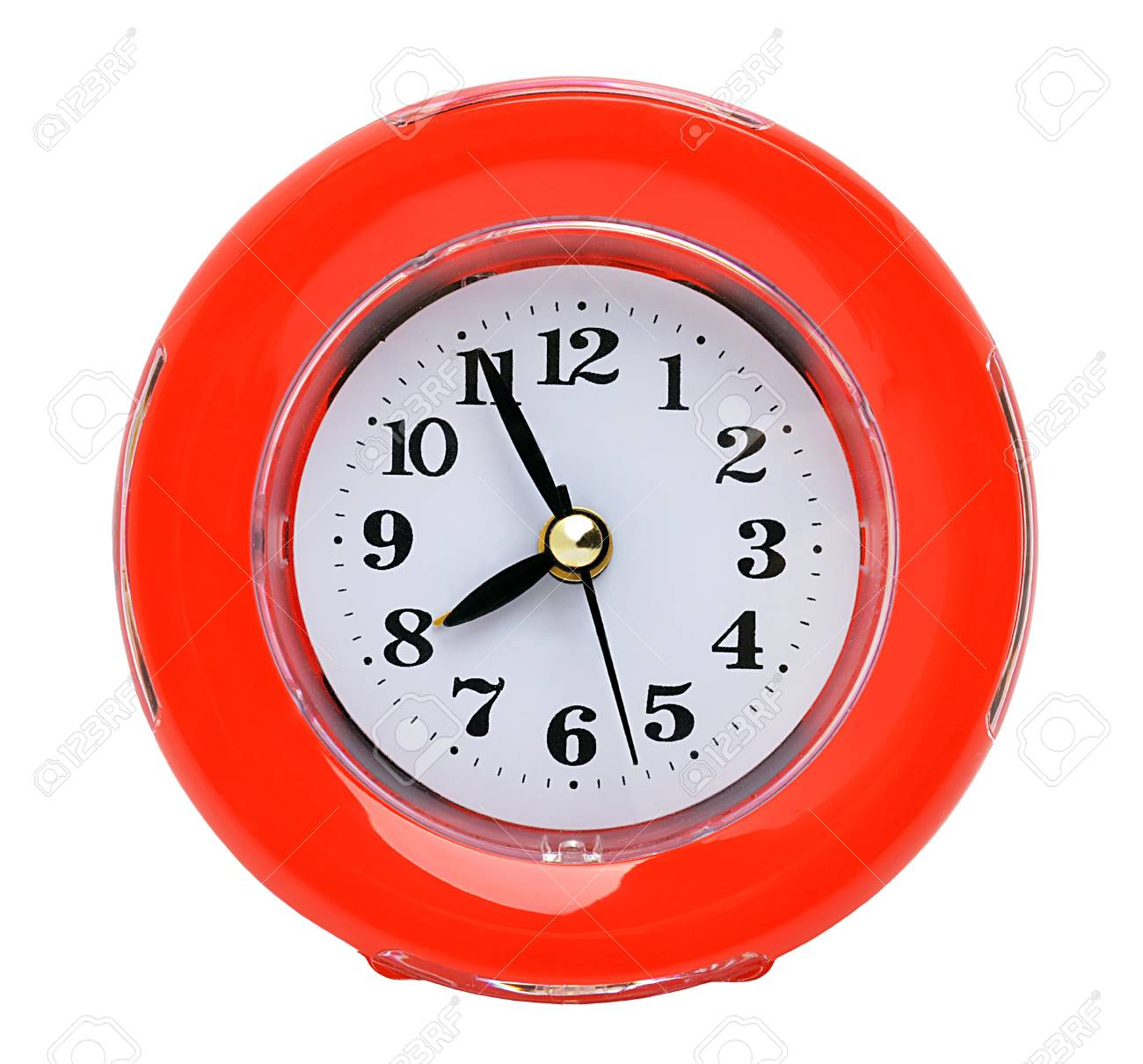 Red clock isolated on the white background - 15091617