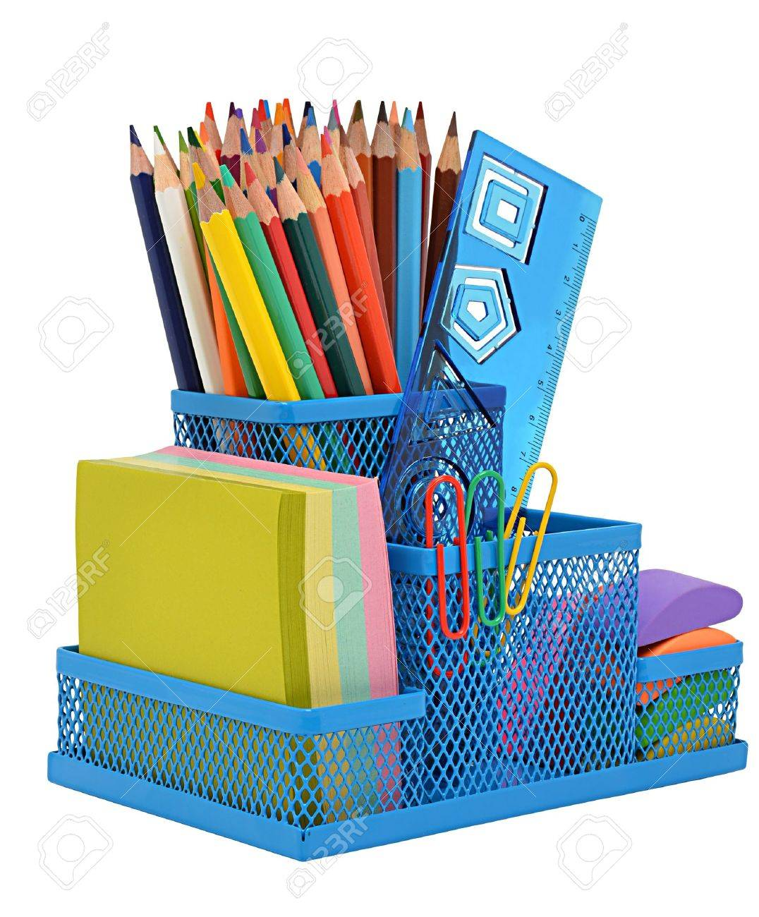 Schoole supplies isolated on the white background - 15091756