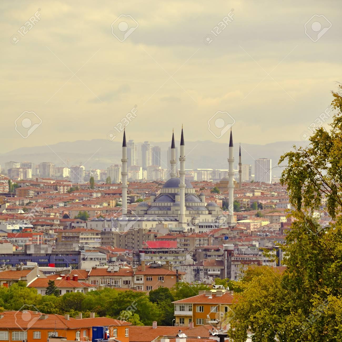 Ankara, Capital city of Turkey in a beautiful autumn day. - 90585929