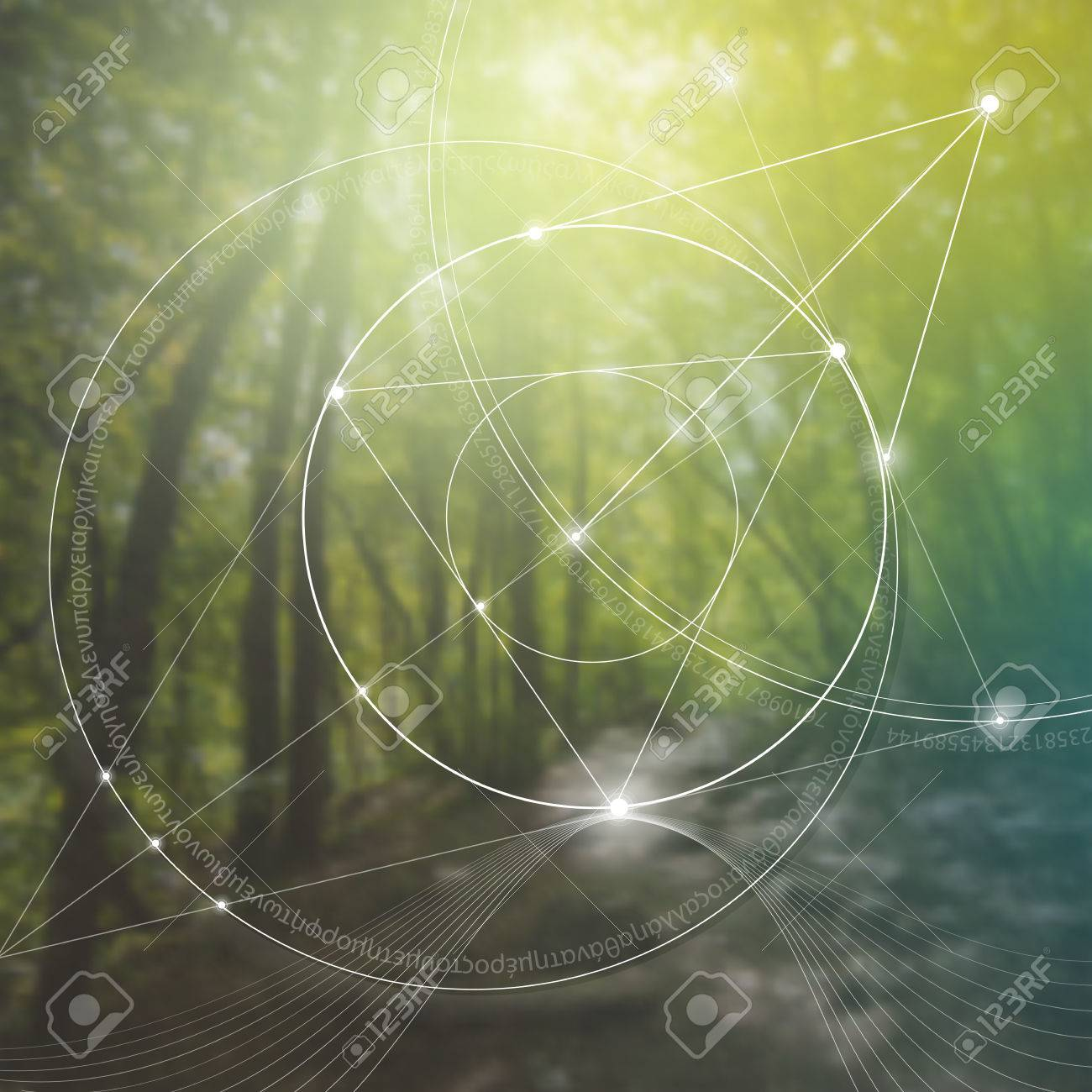 Sacred geometry. Mathematics, nature, and spirituality in nature. The formula of nature. There is no beginning and no end of the Universe, and no beginning and no end of the Life and the Bliss. - 61411611