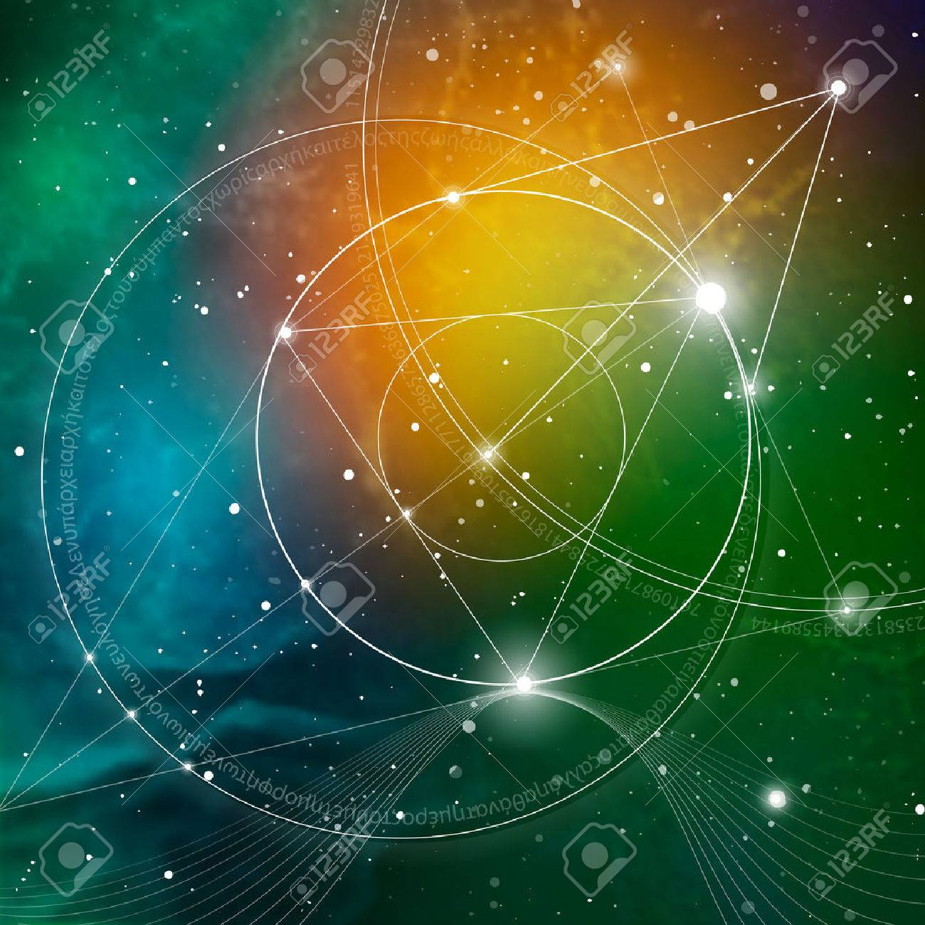 Sacred geometry. Mathematics, nature, and spirituality in Space. The formula of nature. There is no beginning and no end of the Universe, and no beginning and no end of the Life and the Bliss. - 67021296