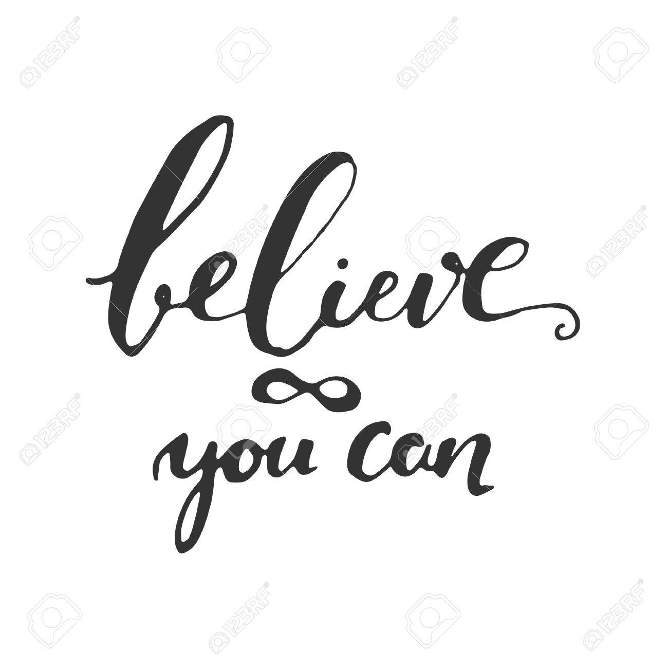 Wonderful Believe In Yourself. Inspirational And Motivation Quote For Fitness, Gym.  Modern Calligraphic Style