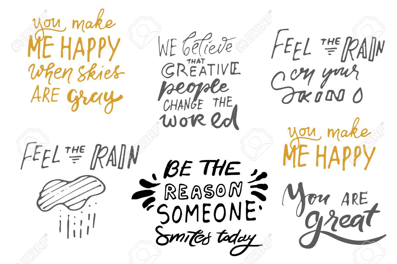 Quote Poster, Inspirational Words, Motivate Saying. Feel The Rain On Your  Skin .