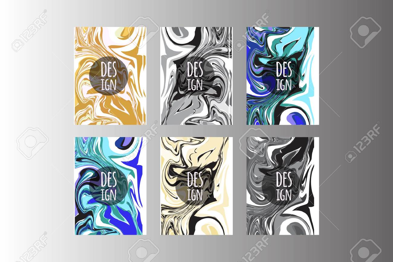 Posters for your design. Marble background. - 118664458