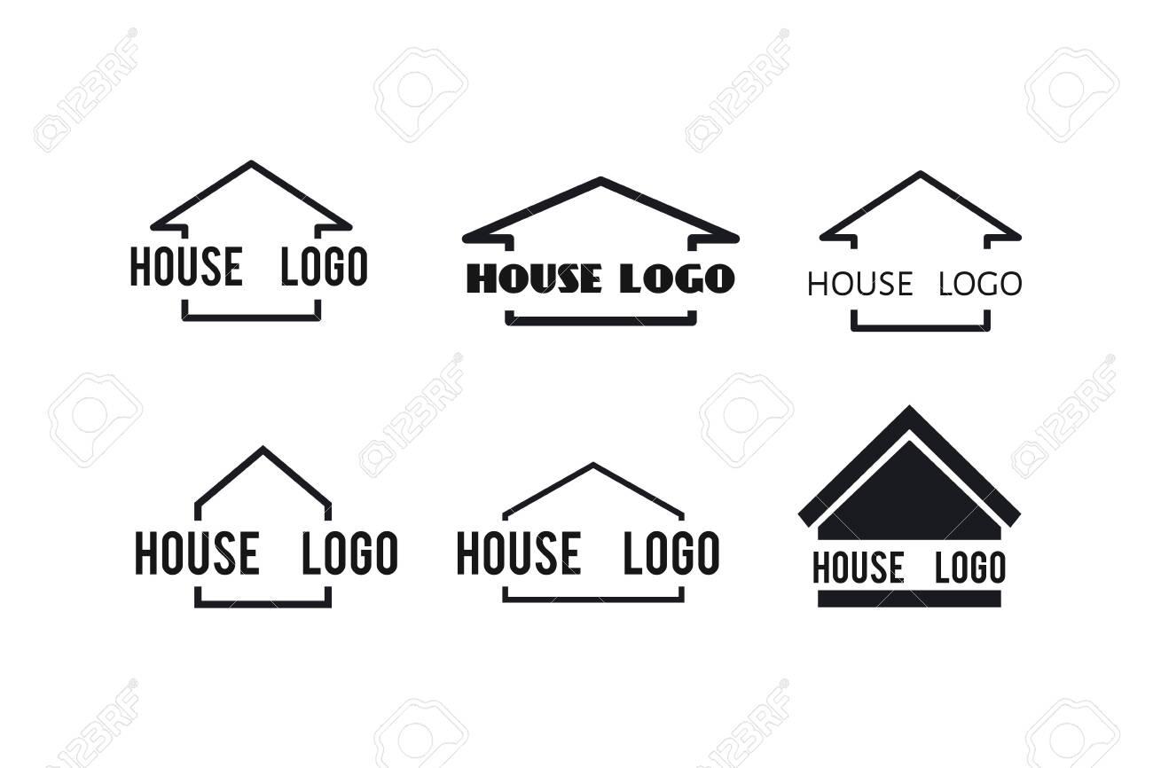 House icons set for your design: logo, poster , illustration - 118664533