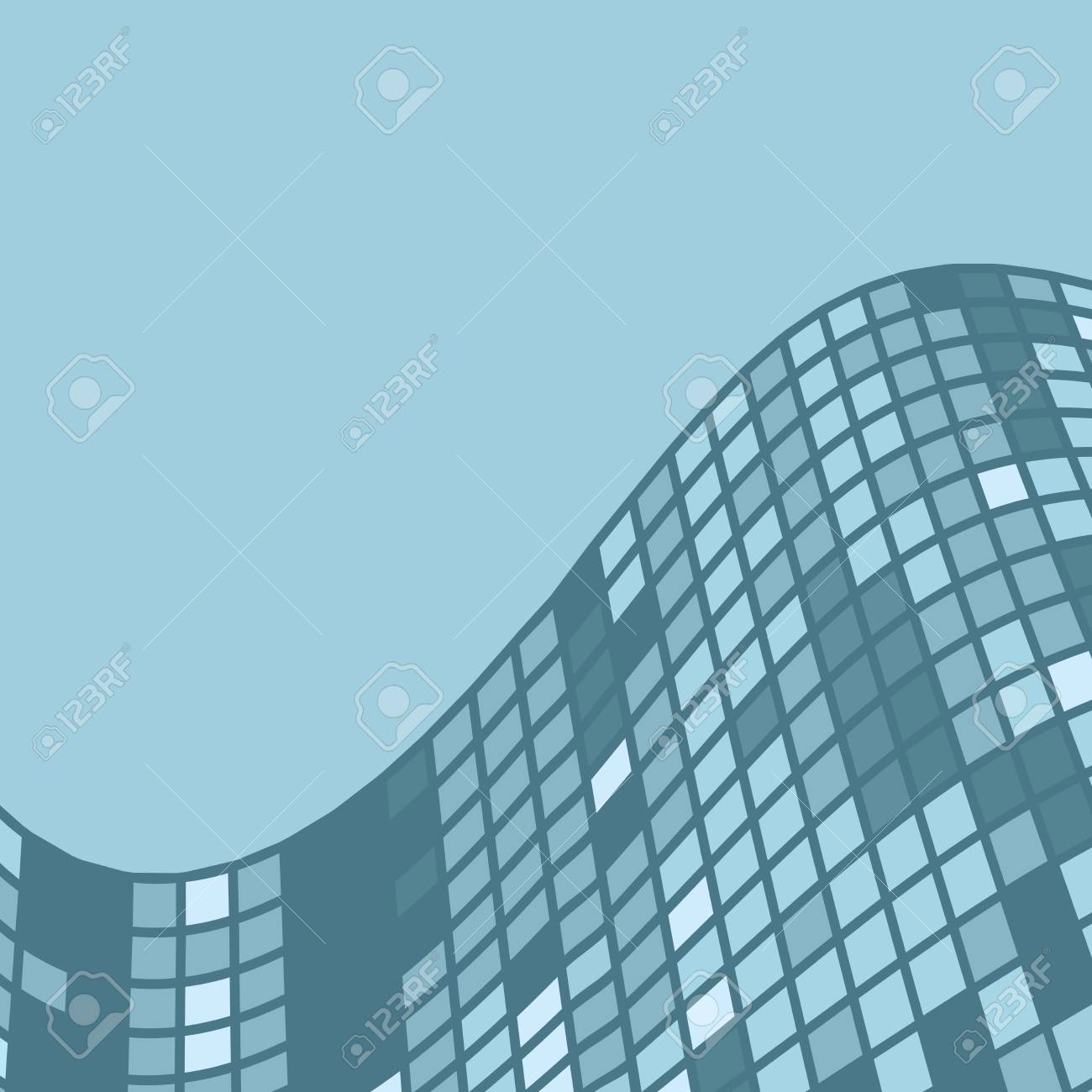 e4b751547a9 Background with abstract glass building in modern style in an unusual  perspective. Stock Vector -