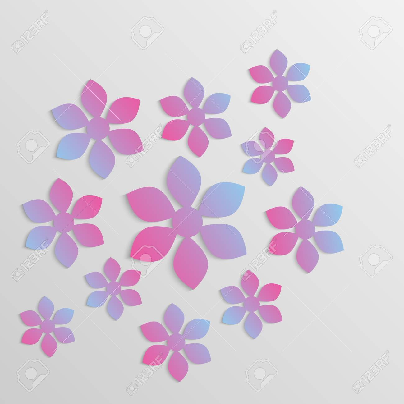 Vector Paper Flower Origami Lizenzfrei Nutzbare Vektorgrafiken