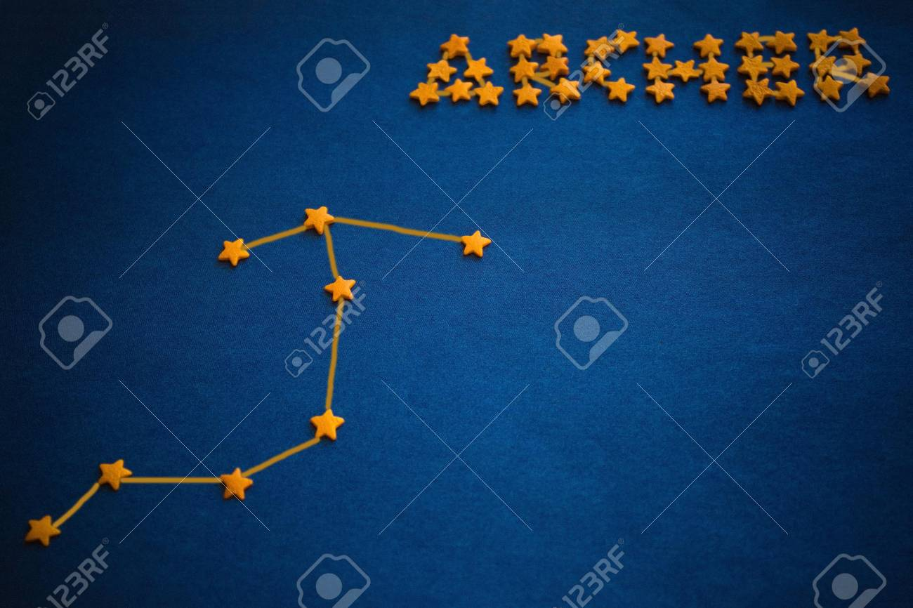 Astrology Date Of Birth Zodiac Sign Constellation Archer Stock Photo Picture And Royalty Free Image Image 114348039