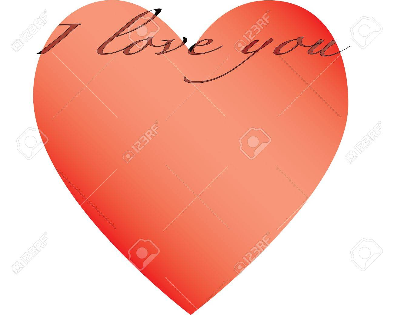A Large Heart With A White Background And A Title Stock Photo