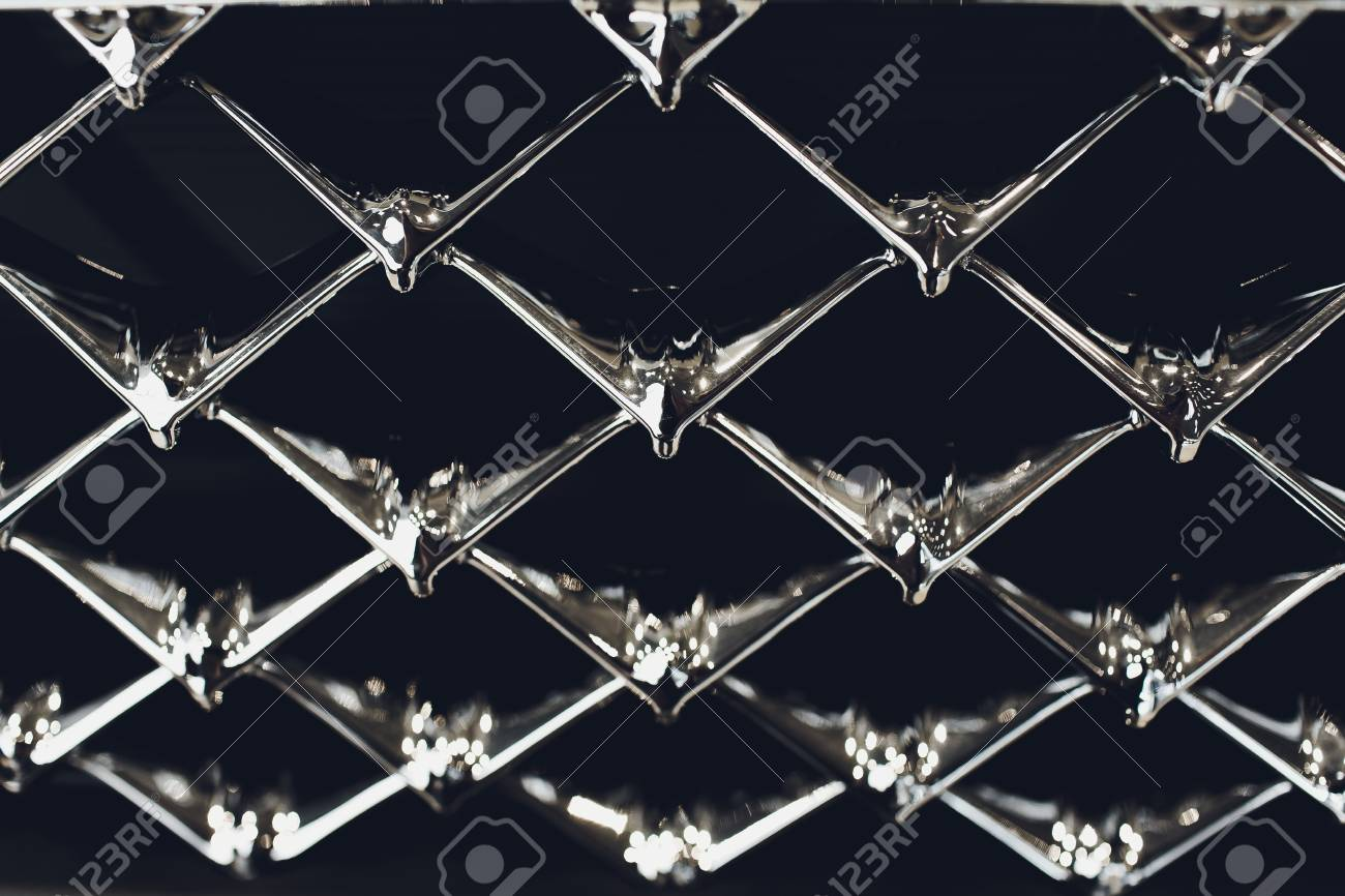 Grid Of Car With Sunflare Radiator Grille Metal Close Up Texture Stock Photo Picture And Royalty Free Image Image 124815509