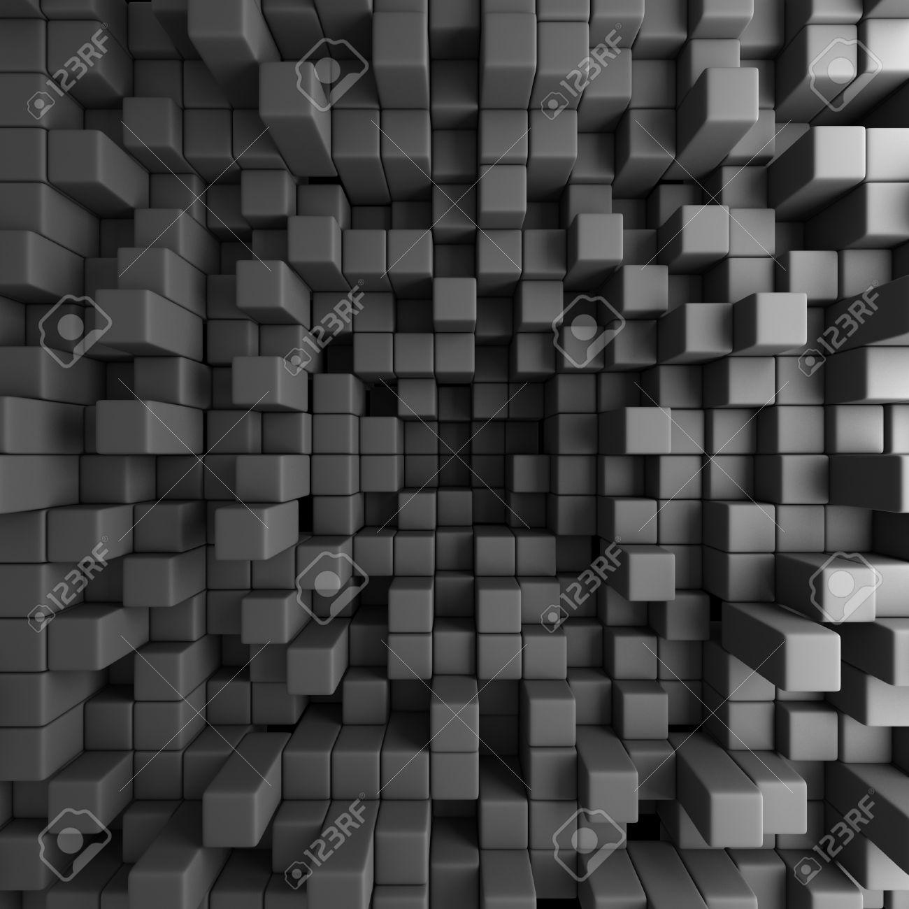 Abstract 3d Cubes Blocks Wallpaper Background 3d Render