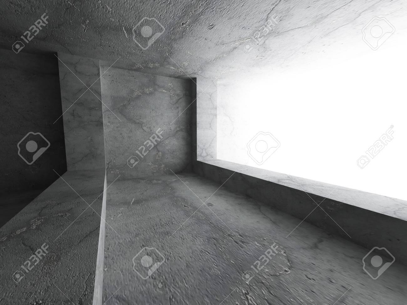 Hormigón Cuarto Oscuro Interior. Extracto De La Configuración De ...